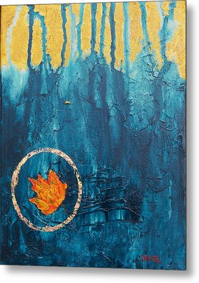 Metal Print featuring the painting Transforming by Robert Decker