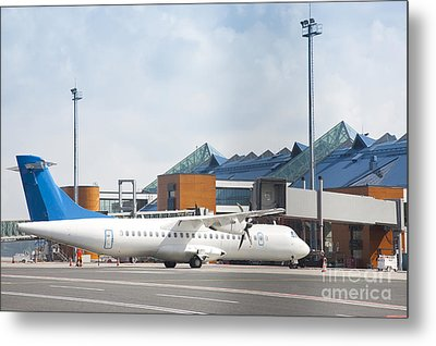 Transport Plane At The Airport Metal Print by Jaak Nilson