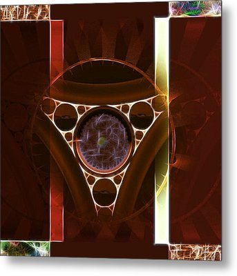 Metal Print featuring the digital art Trapped  by Mario Carini
