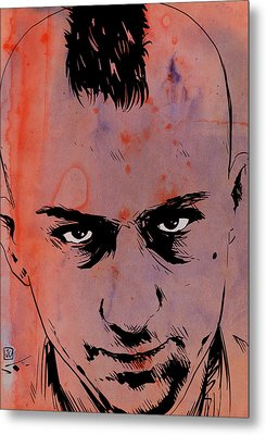 Travis Bickle Taxi Driver Metal Print by Giuseppe Cristiano