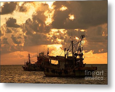 Trawlers  Metal Print by Gary Bridger
