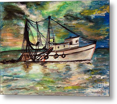 Trawling Metal Print by Isabella F Abbie Shores FRSA