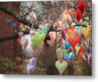 Tree Hearts Metal Print