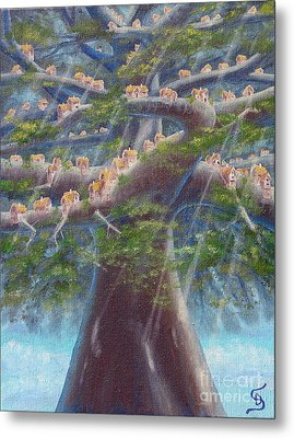 Tree Houses From Arboregal Metal Print