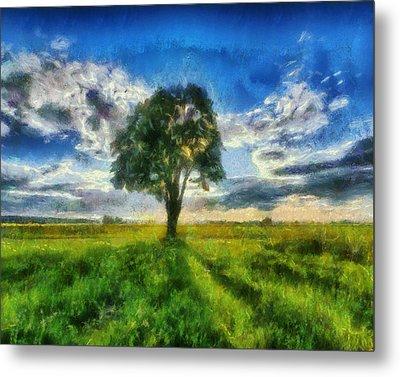 Metal Print featuring the painting Tree Of Life by Joe Misrasi