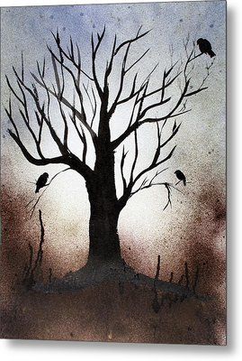 Tree Shadows Metal Print