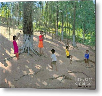Tree Swing Metal Print by Andrew Macara
