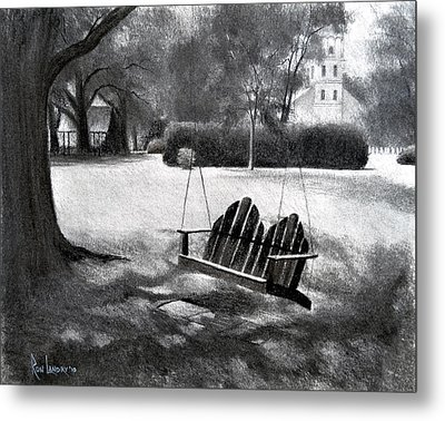 Tree Swing In Grand Coteau Metal Print by Ron Landry