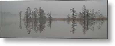 Metal Print featuring the digital art Trees In The Mist Panorama by Claude McCoy