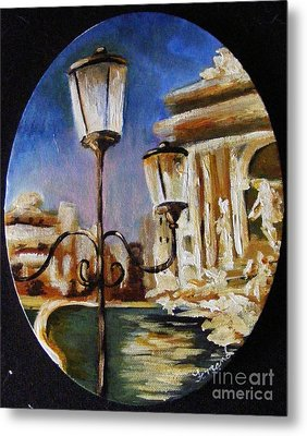 Trevi Fountain Metal Print by Karen  Ferrand Carroll