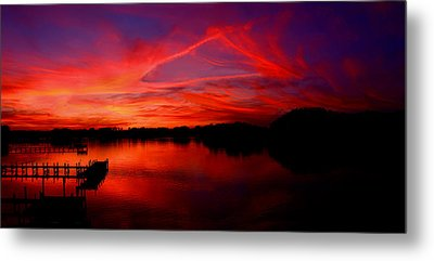 Triangle Of Fire Metal Print by Tim Scullion