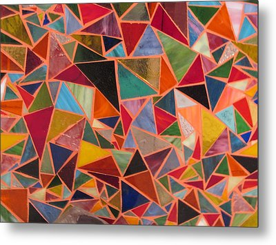 Triangles Metal Print by Donna Moore
