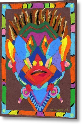 Tribal Mask Metal Print by Stephen Anderson