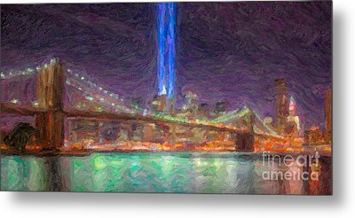 Tribute In Light Impasto Metal Print by Clarence Holmes