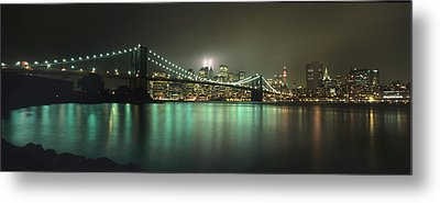 Tribute In Light, Lower Manhattan On Metal Print by Axiom Photographic