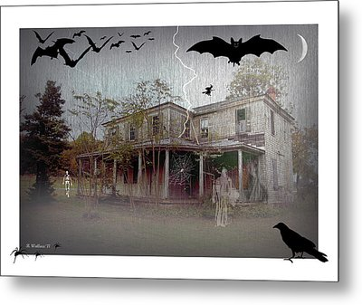 Trick Or Run Like Hell Metal Print by Brian Wallace