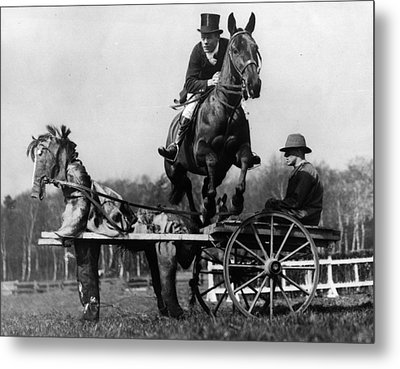Trick Riding Metal Print by William G Vanderson