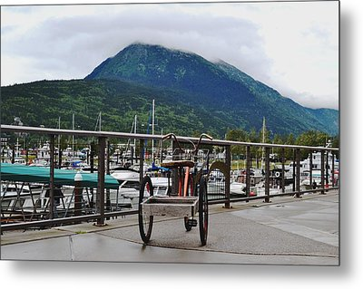 Tricycle At The Harbor Metal Print