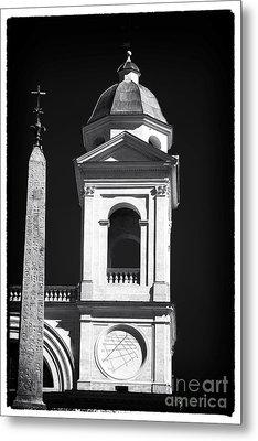 Trinita Church Tower Metal Print by John Rizzuto