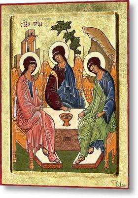 Metal Print featuring the painting Trinity by Raffaella Lunelli