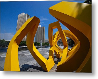 Metal Print featuring the photograph Trio On The Plaza by John Schneider