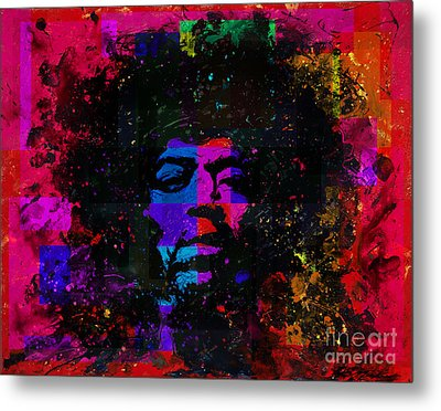 Tripping With Hendrix Metal Print by Chris Mackie
