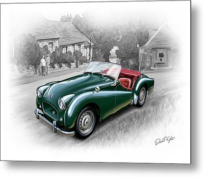 Triumph Tr-2 Sports Car Metal Print by David Kyte