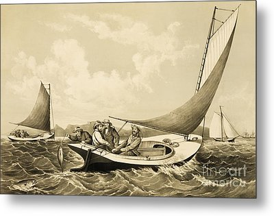 Trolling For Bluefish Metal Print by Pg Reproductions