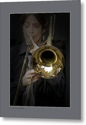 Metal Print featuring the photograph Trombone by Pedro L Gili