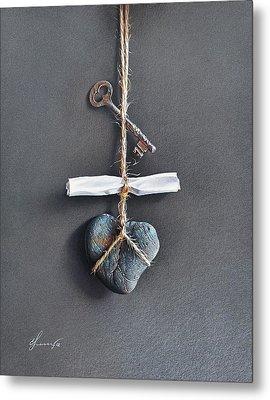 Trompe Loeil - Intimate Note Metal Print by Elena Kolotusha