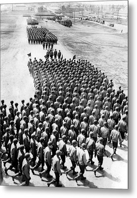 Troops Of The New 75th Infantry Metal Print by Everett