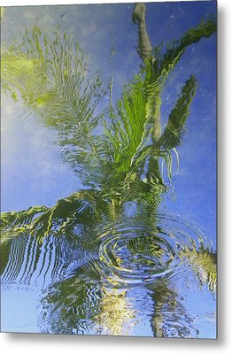 Tropical Abstraction Metal Print by Sandy Fisher