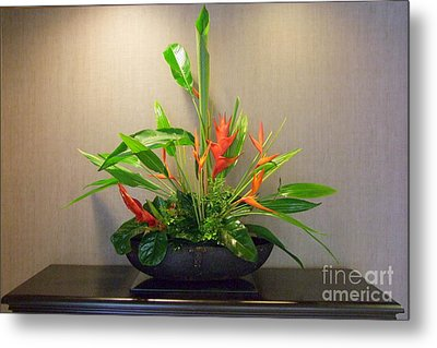 Tropical Arrangement Metal Print by Mary Deal