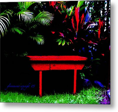 Metal Print featuring the digital art Tropical Dreams by Glenna McRae