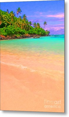 Tropical Island 3 - Painterly Metal Print by Wingsdomain Art and Photography