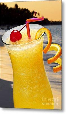 Tropical Orange Drink Metal Print