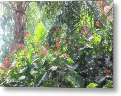 Metal Print featuring the photograph Tropical Paradise by Donna  Smith