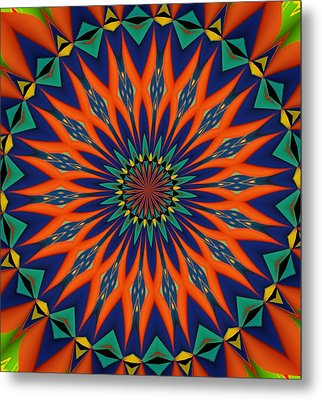Metal Print featuring the digital art Tropical Punch by Alec Drake