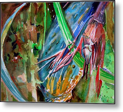 Tropical Reflections Metal Print by Mindy Newman