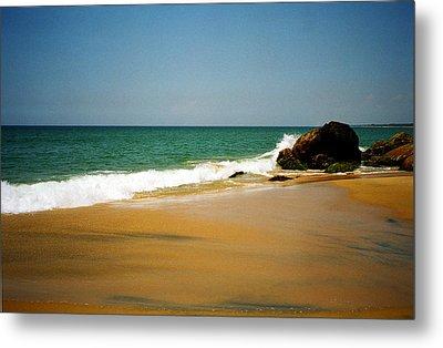 Tropical Sandy Beach Metal Print by Jasna Buncic