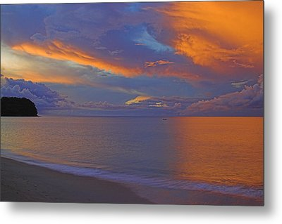 Metal Print featuring the photograph Tropical Sunset- St Lucia by Chester Williams