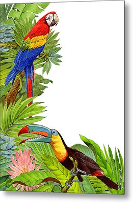 Tropical Tete A Tete Metal Print