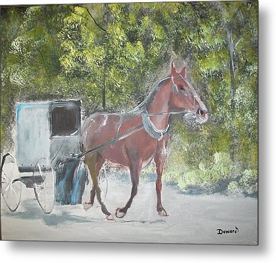 Trotting Along Metal Print