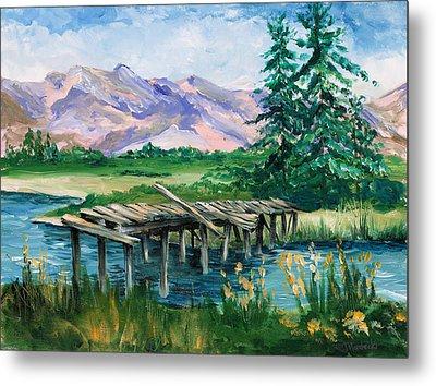 Troubled Bridge Over Water Metal Print