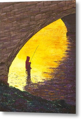 Trout Fishing Metal Print by Garry McMichael