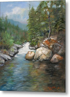 Trout Stream Metal Print by Max Mckenzie