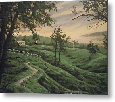 Troy Hill Farm Metal Print by James Guentner
