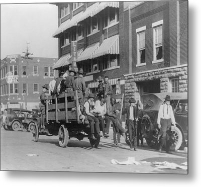 Truck On Street Near Tulsa, Oklahomas Metal Print