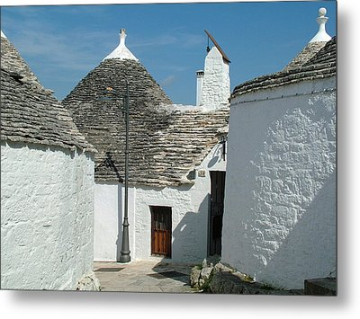 Metal Print featuring the photograph Trulli Houses Alberobello Italy by Joseph Hendrix