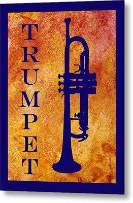 Trumpet Metal Print by Jenny Armitage